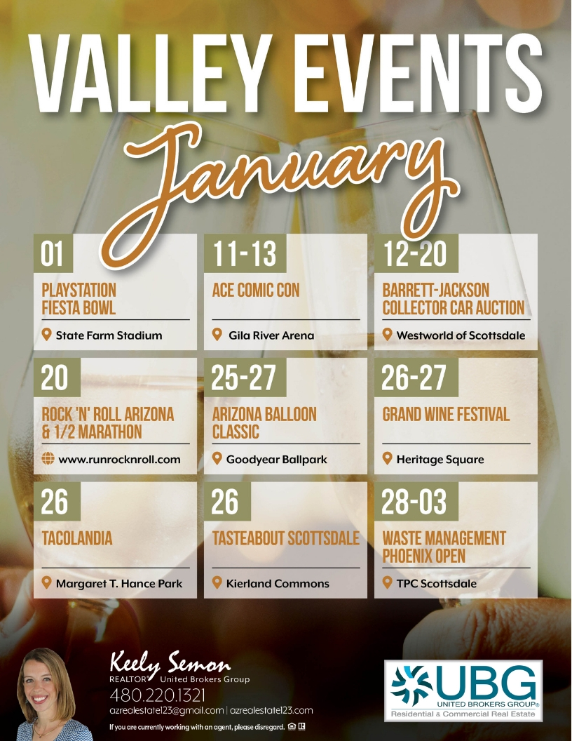 Phoenix Events over The Next 30 Days | Monthly Calendar